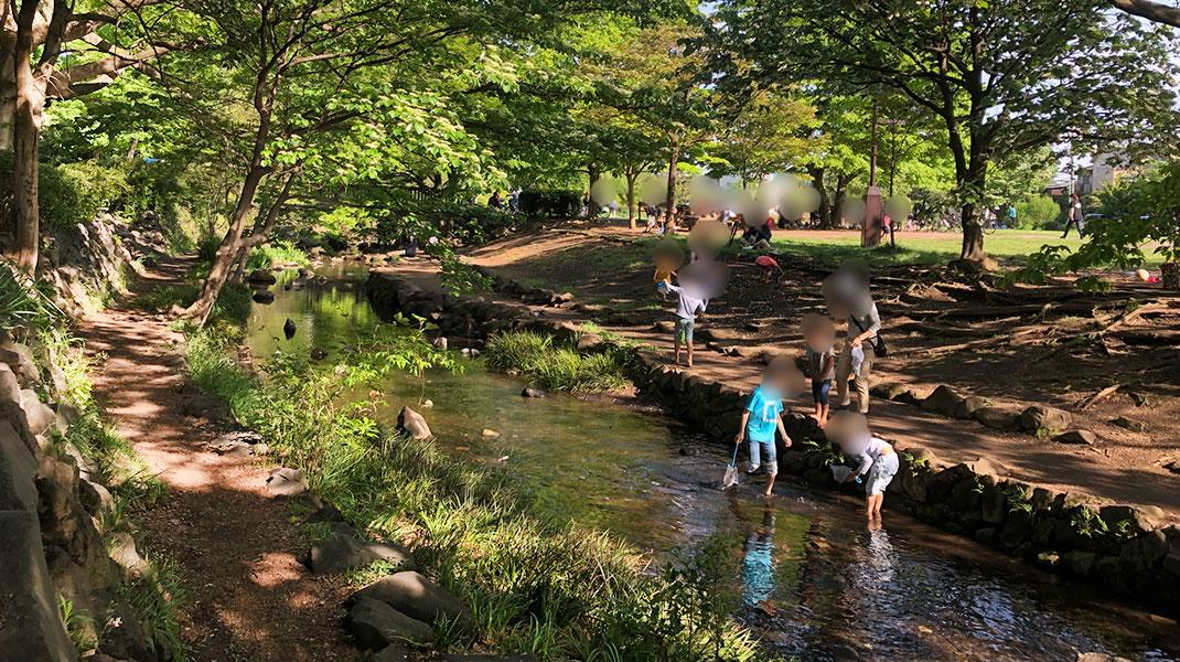 安心して川遊びできる公園