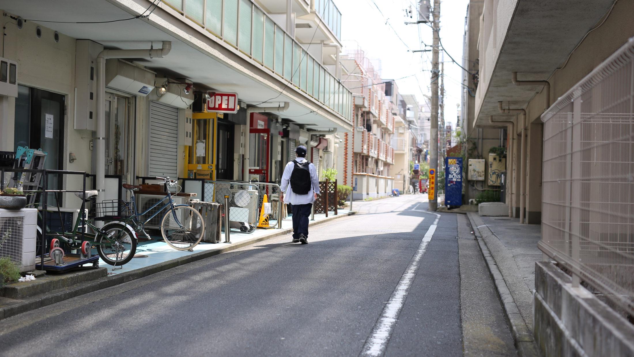 五日市街道の路地